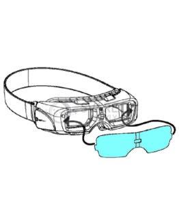 Vnější krycí sklo pro brýle Servoglas ARC-513 (1ks)